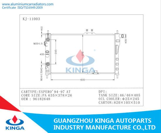 Fantastic China Auto Engine Cooling Radiator Daewoo Espero Oem 96182648 Wiring Digital Resources Talizslowmaporg