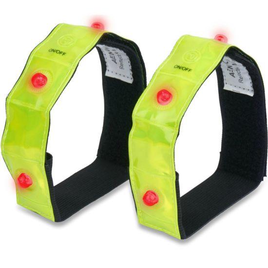 Comfortable Safety Wristband LED Flashing Armband Jogging Running Gear
