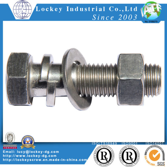 Stainless Steel Hex Bolt Hex Screw with Hex Nut and Flat Washer pictures & photos