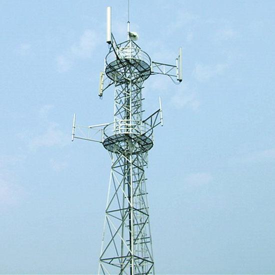 China Galvanized Angle Iron Telecommunication WiFi Antenna Tower