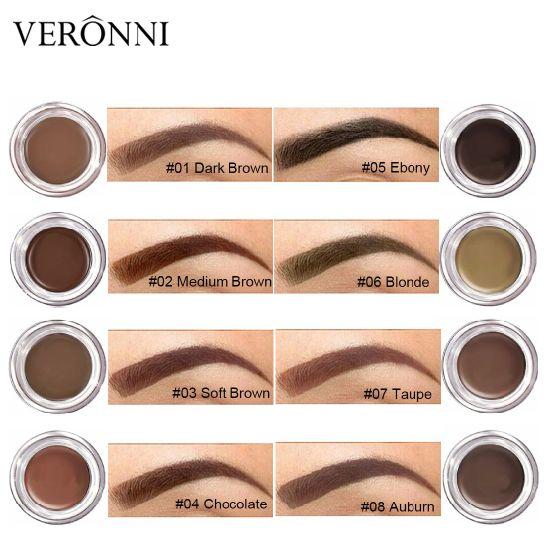 b5a586e16b9 VERONNI Professional Eyebrow Gel 8 Color High Eyebrow Tint Makeup Long  Lasting Waterproof Eyebrow Cream with Brow Brush Tools. Get Latest Price