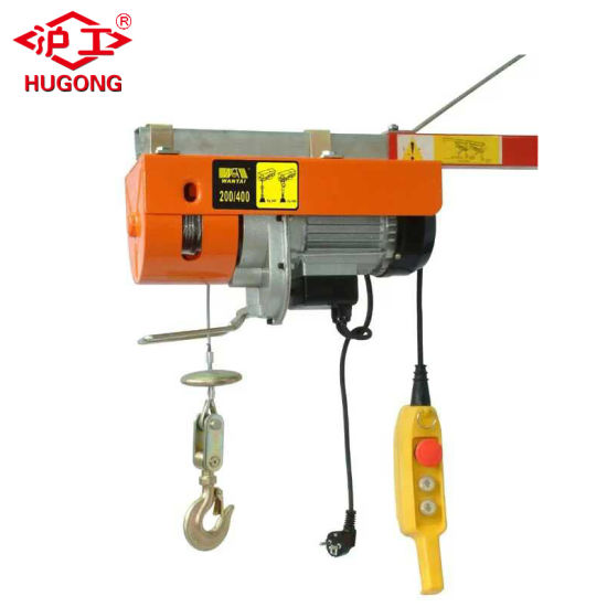 0.5t 1t Electric Cable Hoist, PA Electric Wire Rope Hoist pictures & photos