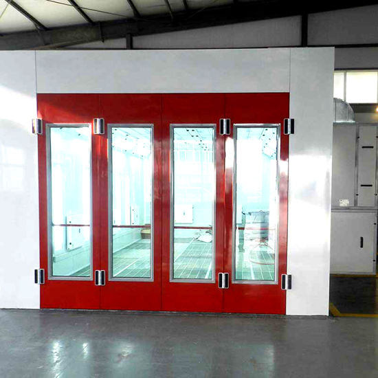 Large Paint Booth with Intake and Exhaust Fan