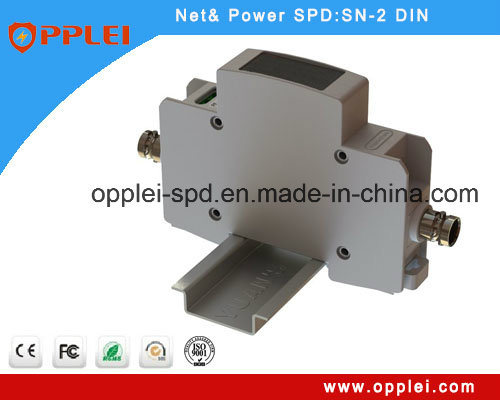 Opplei CCTV 2 in 1 IP 35mm DIN Camera Surge Protector