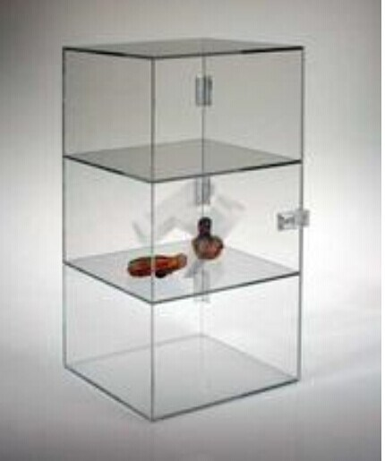 "Acrylic Lucite Countertop Display Case Showcase Box Cabinet 12"" X 6"" X 16"" pictures & photos"
