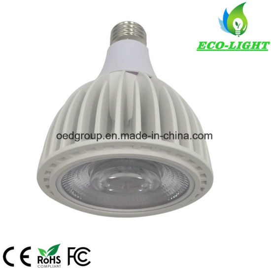 No Fan E27 35W PAR30 LED Tracklight 3500lm 100lm/W Epistar COB LED with AC85-265V and 2700-7000K pictures & photos