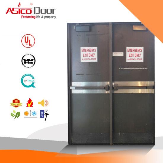Asico Swing Type Steel Metal Fire Door Set with Knock Down Frame