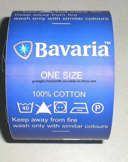 Custom Tear Paper Garment Print Care Label