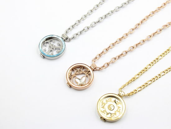 Factory Wholesale 316L Stainless Steel Locket fashion Jewelry with Colorful Shell Tops pictures & photos