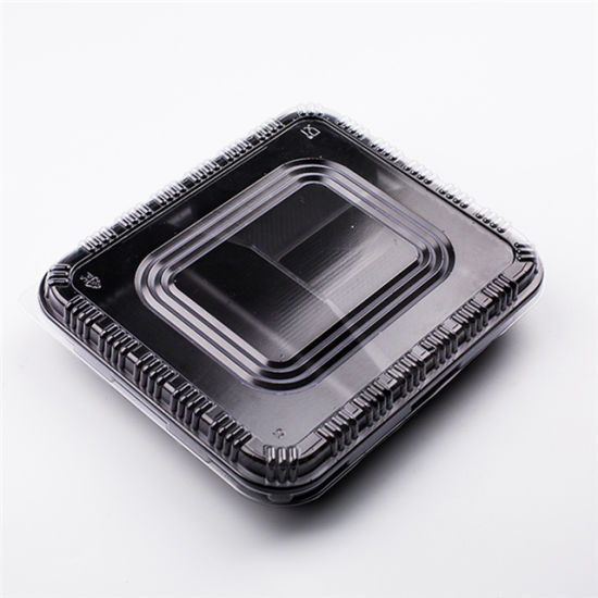 China Wholesale Pet Plastic Take Away Lunch Bento Box Food Plastic Container
