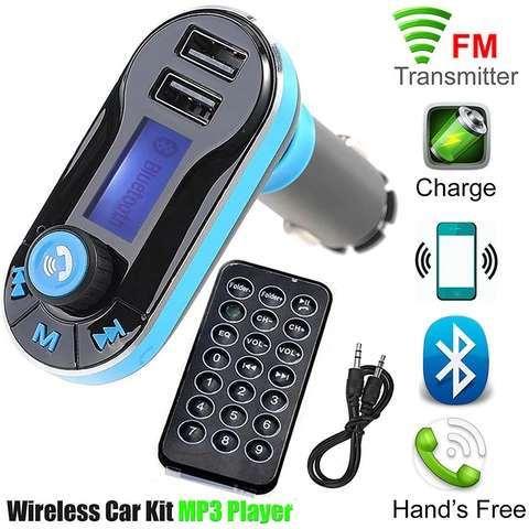 Car MP3 Player Dual USB Card Music Car with Bluetooth FM Transmitter