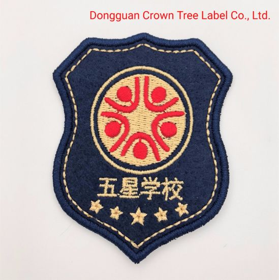 Wholesale New Design Flat Embroidery Woven Badge