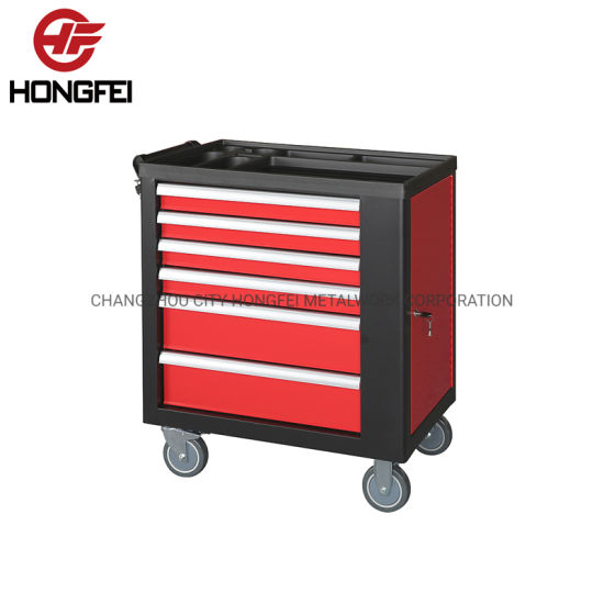 5′′ PVC Casters Side Push Handle Roller Cabinet Tool Chest pictures & photos