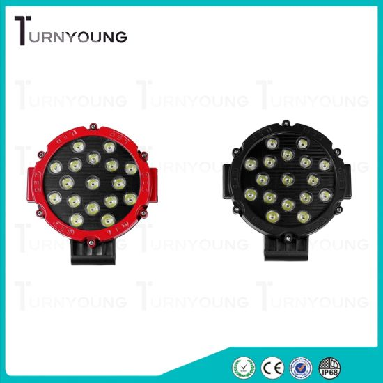 LED Car Work Light of 51W 6inch with off-Road Spot Beam
