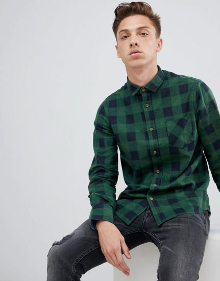 Custom High Quality Men's Cotton Flannel Shirts