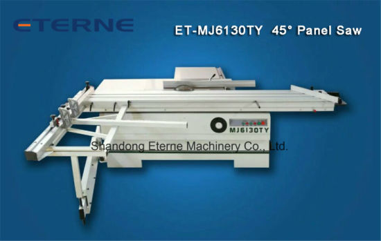 3000 mm Woodworking Sliding Table Plate Panel Saw with 45 Degree (ET-MJ6130TY)
