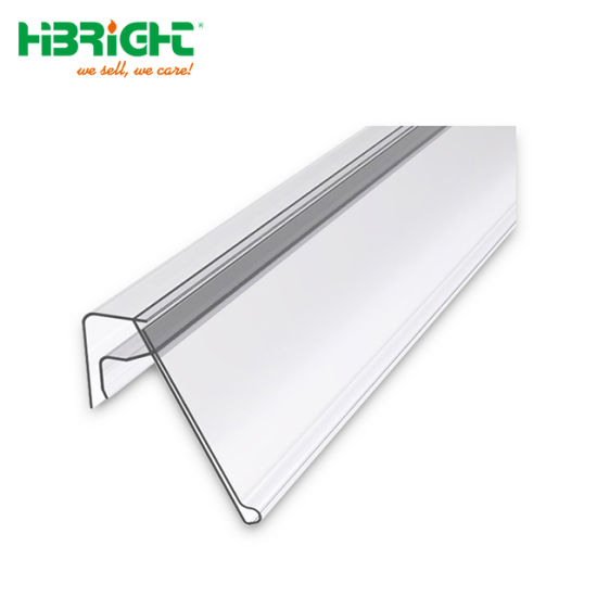 Plastic Material Wooden Shelves Data Strip Price Channel Holder for Supermarket Shelves pictures & photos