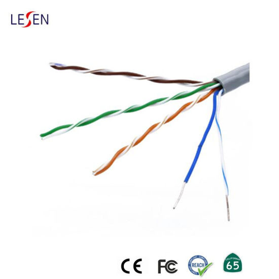 China Cat5 5e Cat6 Ethernet Network Cable Pure Oxygen Free Copper Communication Wire China Cat6 Ftp Cable Network Cable