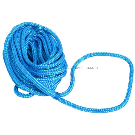 """Blue 3//4/"""" 25 FT Double Braid Nylon Dock Line Mooring Rope Double Braided"""