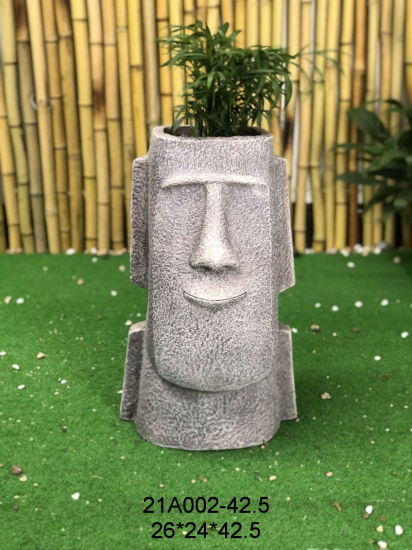 Factory Wholesale Polyresin Factory Statue Sculpture Family Figurines Best Sellers Sculptures Resin Craft Flower Pot & Planter