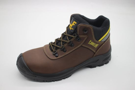 China Brown Crazy Horse Safety Boot