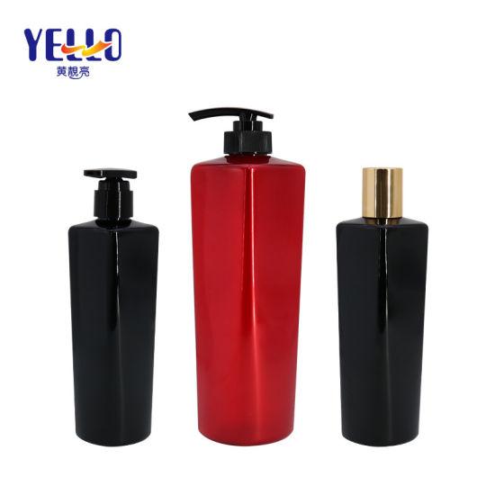 Custom Private Label 250ml 750ml Black Plastic Pet Refillable Shampoo Bottle