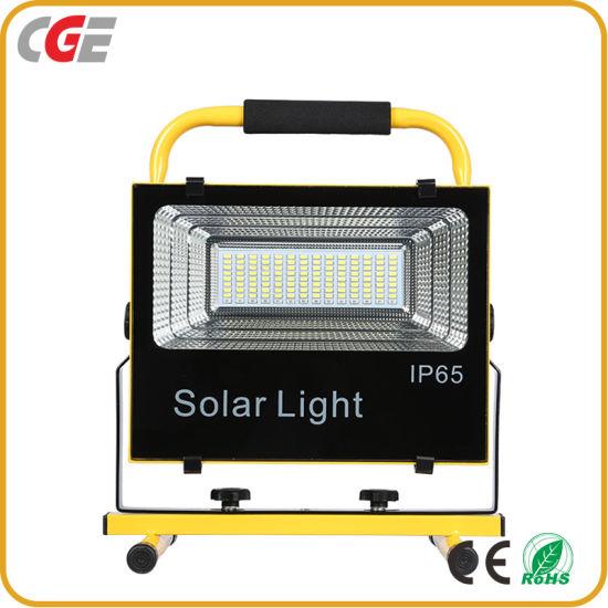 Portable Solar Floodlight Rainproof IP65 Waterproof 50watt Solar LED Flood Light All in One