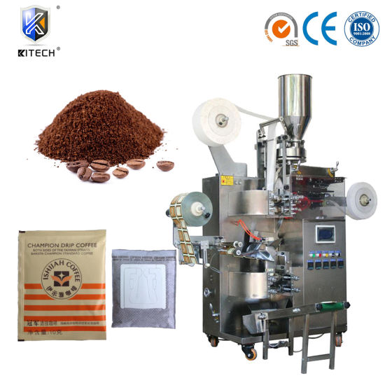 Automatic Vertical Drip Coffee Food Powder Granule Food Sachet Filling Packaging Packing Sealing Flow Wrapping Machine for Tea Paper Bag