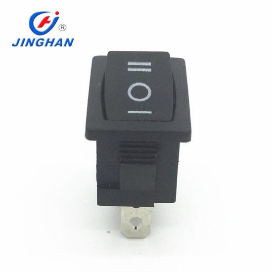 High Quality Black Single Pole 3 Position on-off-on Rocker Switch