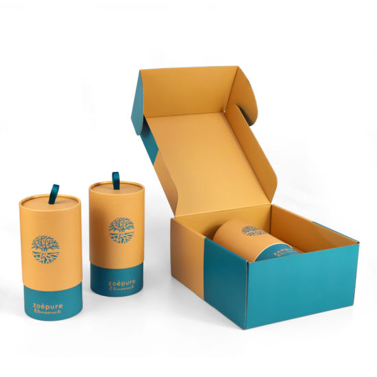 Firstsail New Arrival Eco Recycled Corrugated Kraft Paper Packaging Gift Box for Cosmetic Soap Shoes T Shirt Mailing Vacuum Cup Sunglasses Candle Shipping