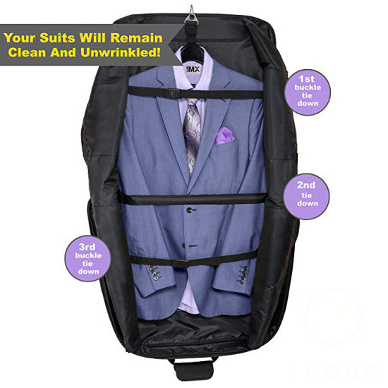 Carry on Garment Suit Bag for Travel & Business Trips with Shoulder Strap
