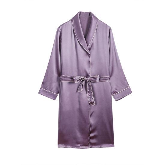 100% Silk High Quality Fashion Women's Nightgown Sleepwear Silk Pajamas