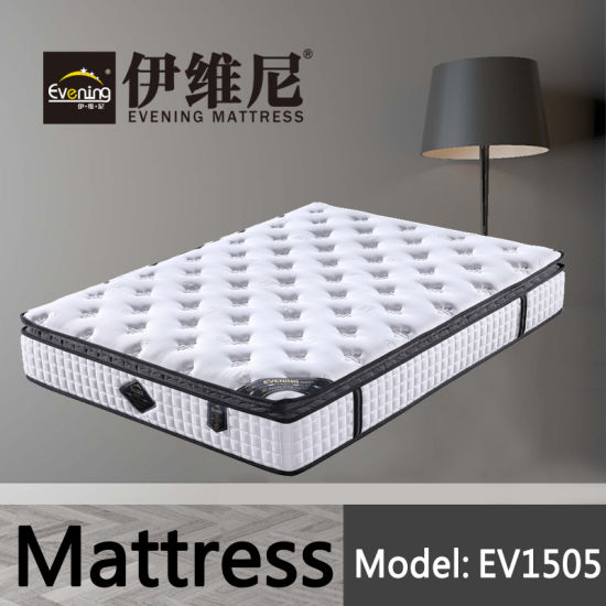 Wholesale Pocket Spring Hotel Double Bed Foam Mattresses Mattress for Bedroom Set