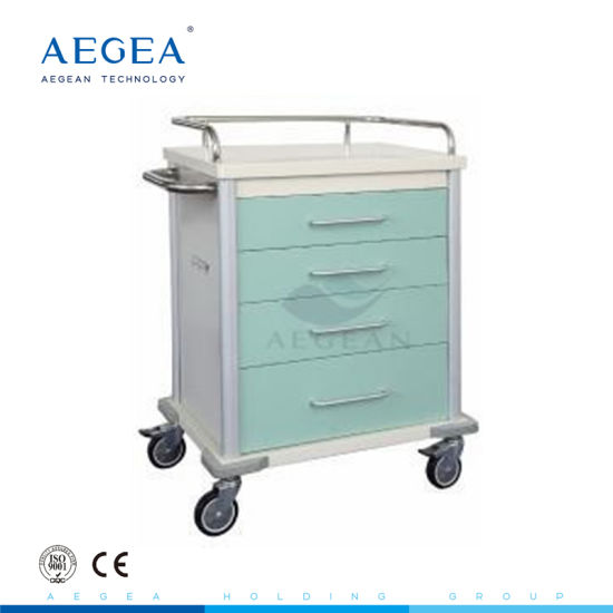 AG-Mt027 Power Coating Steel Medicine Trolley