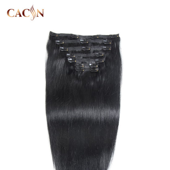 Double Weft Curly Clip in Natural Wavy Hair Extensions for Short Hair