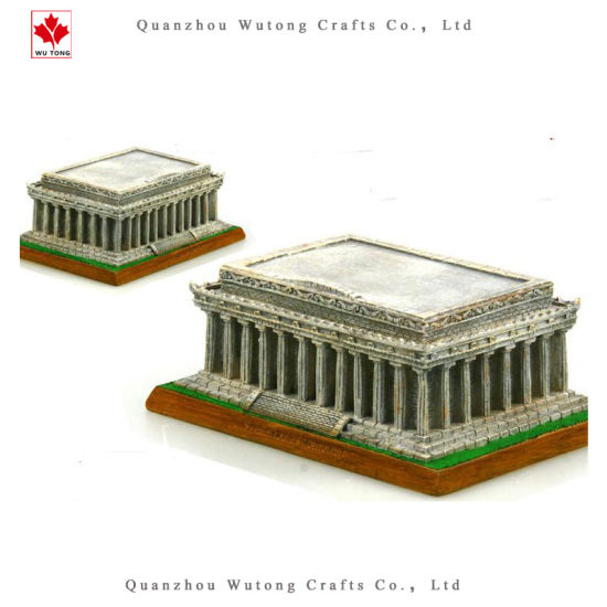 China Resin 3D Souvenir Lincoln Memorial Resin Model - China