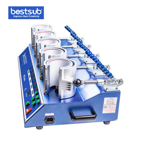 Bestsub Plus Sublimation Multi 5 Heaters Digital Coffee Mug Heat Press Transfer Printing Machine (PLUS-SB05C)