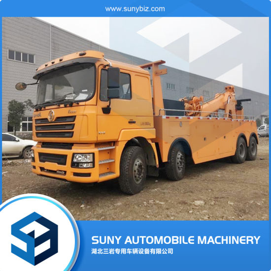 Factory Special Heavy Telescopic Boom Tow Load 20t Recovery Truck with 10t Winch Diesel Engine 340HP Shacman F3000 8X4 Wrecker Truck Car Road Emergency Rescue