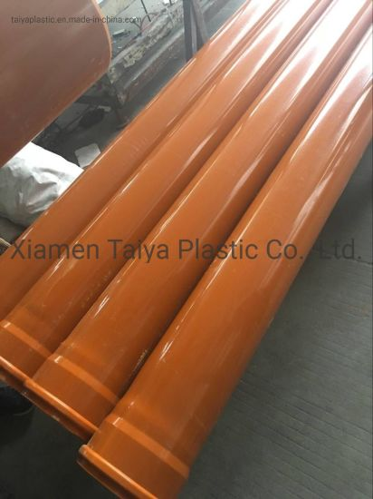 Plastic Material PVC Pipe for Drainage pictures & photos