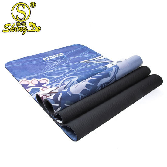 Eco-Friendly Non-Toxic Suede TPE Yoga Mat Home Gym