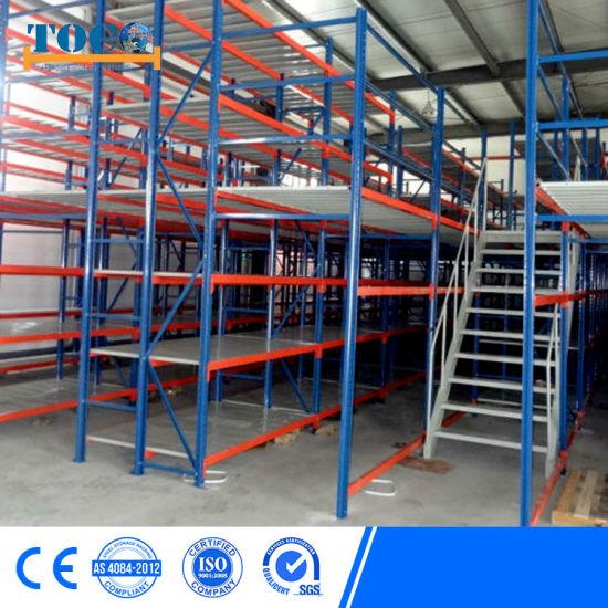 Multi Tier Mezzanine Rack Staircase Storage for Bulky Goods