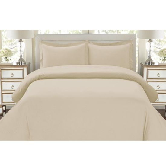 Reversible Solid Color Brushed 100 Polyester Microfiber Fabric Bed Sheets Pictures Photos