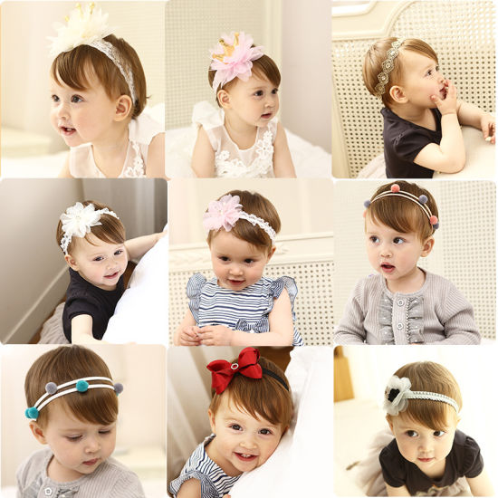 2017 Wholesale Flower Hair Band Hair Ornaments Bowknot Headband Fashion Baby Hair Accessories pictures & photos
