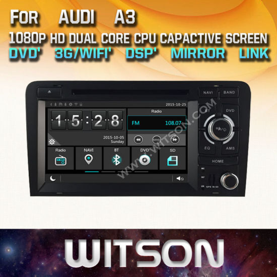 China Witson Windows Radio Stereo Dvd Player For Audi A3 China Car