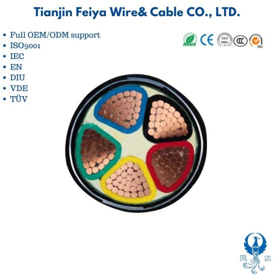 0.6/1kv Yjv22 4X50+1X25 XLPE Insulated PVC Sheathed Power Cable