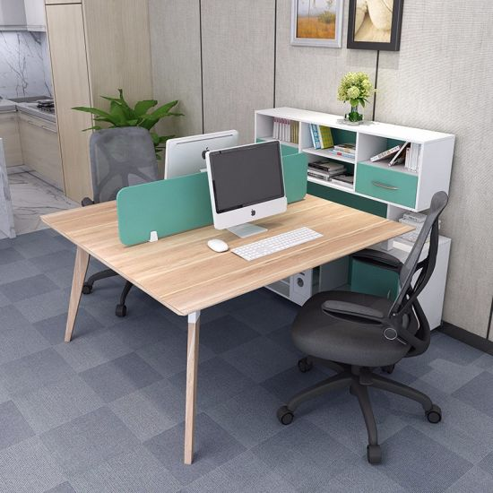 Hot Item Modern Two Person Wooden Office Computer Desk