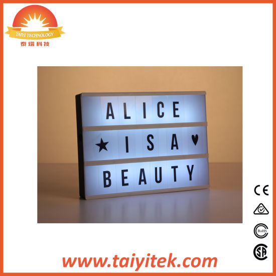 A4 High Quality Battery Powered Cinematic Light Box for Home pictures & photos