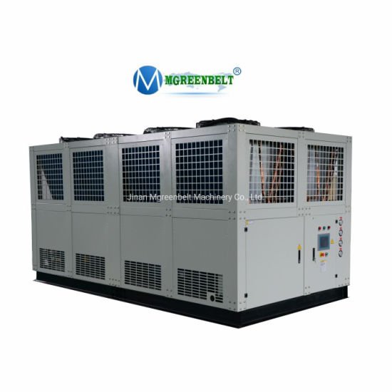 100HP Industrial Air to Water Chiller Unit 80 Tr Industrial Air Cooled Screw Water Chiller for Plastic Extrusion Pipe Processing Line