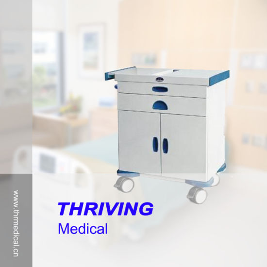 Hospital ABS Medical Emergency Trolley pictures & photos