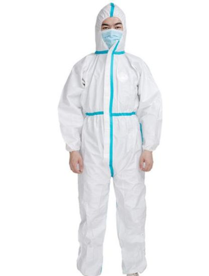 Disposable Protective Clothing Safety Coverall Ce FDA Protective Gown Sterilized Coverall Protection Suit